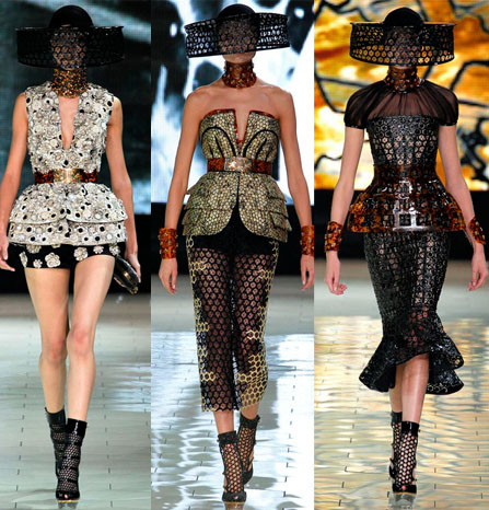 Alexander McQueen spring/summer 2013 images courtesy of glamour.com