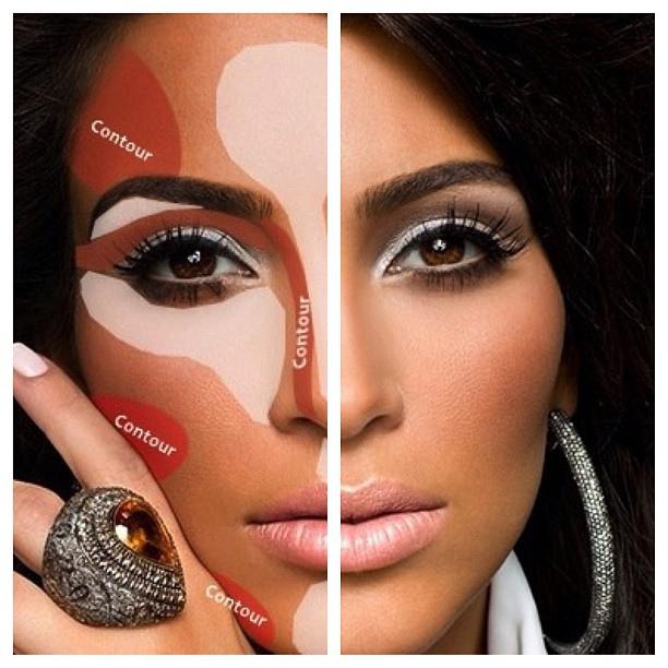 Kim Kardashian Makeup Contouring You - Mugeek Vidalondon