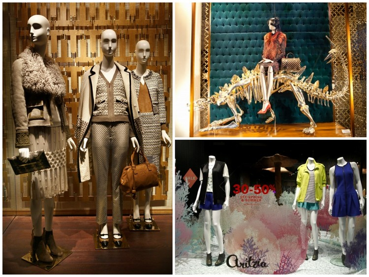 Images clockwise, Tory Burch, August 2013, Chanel, July 2013, Aritzia, July 2013. Images courtesy of windowswear.com