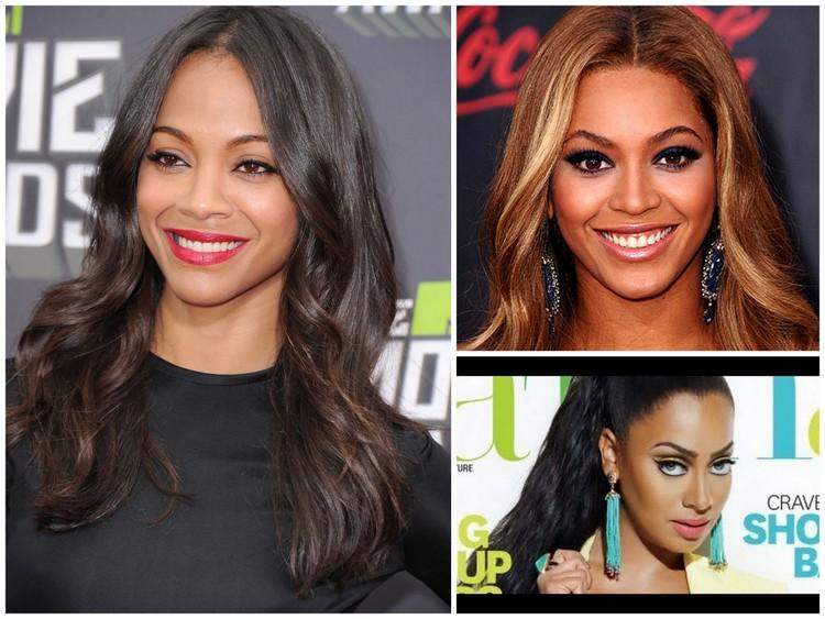 Images clockwise are Zoe Zaldana, Beyonce, Lala Vasquez.