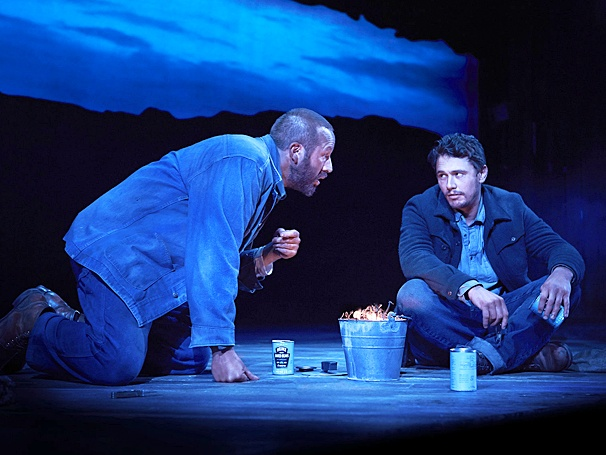 """Chris O'Dowd and James Franco, courtesy """"Of Mice and Men"""""""