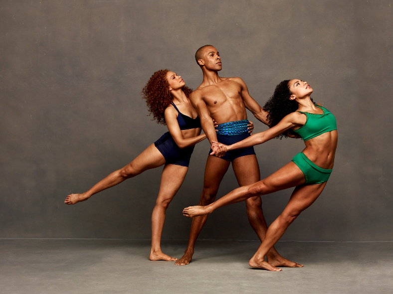 Alvin Ailey American Dance Theater's Belen Pereyra, Yannick Lebrun, and Linda Celeste Sims. Photo by Andrew Eccles