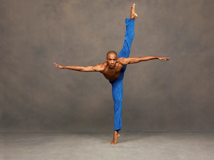 Alvin Ailey American Dance Theater's Yannick Lebrun. Photo by Andrew Eccles