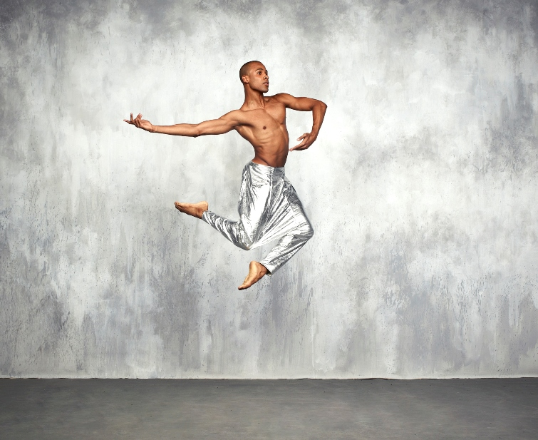 Alvin Ailey American Dance Theater's Yannick Lebrun. Photo by Andrew Eccles Fashion Credit: Pants courtesy of Siki Im.
