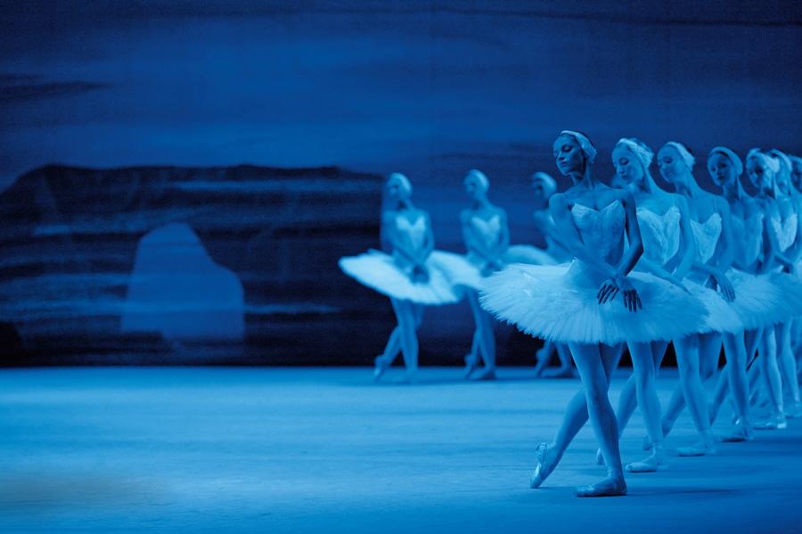 "Bolshoi Ballet's corps de ballet in ""Swan Lake"""