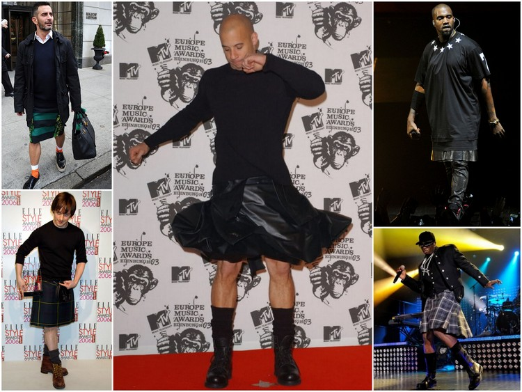 Images clockwise: James McAvoy, Vin Diesel, Kanye West, Sean Combes, James McAvoy