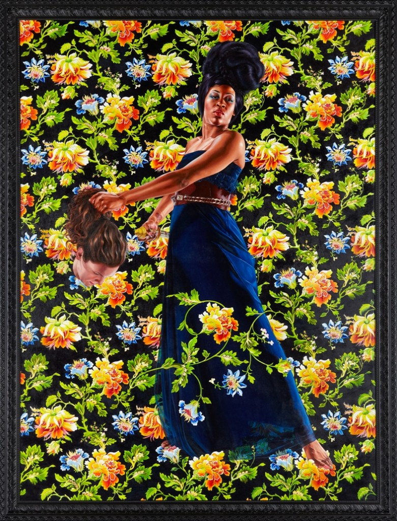 Judith and Holofernes, 2012 oil on linen framed: 130 1/2 x 99 7/8 inches  ©Kehinde Wiley, Courtesy Sean Kelly, New York Photo by Jason Wyche