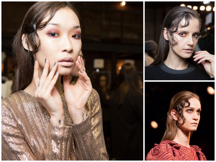 Images of Christian Siriano fall 2015 using MAC Cosmetics courtesy of Sebastian Professional