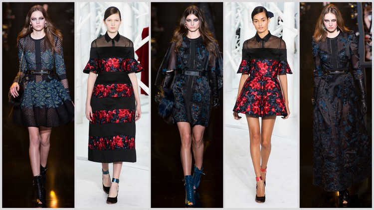 Delpozo and Elie Saab fall 2015 images courtesy of style.com