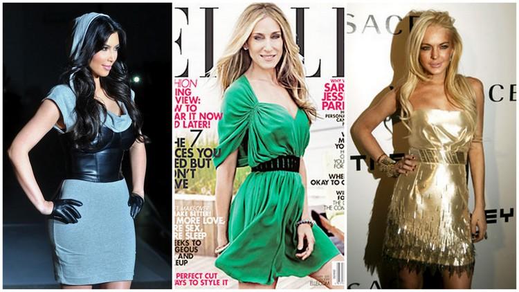 Kim Kardashian image courtesy of popsugar.com, Sarah Jessica Parker and Lindsay Lohan images courtesy of nymag.com
