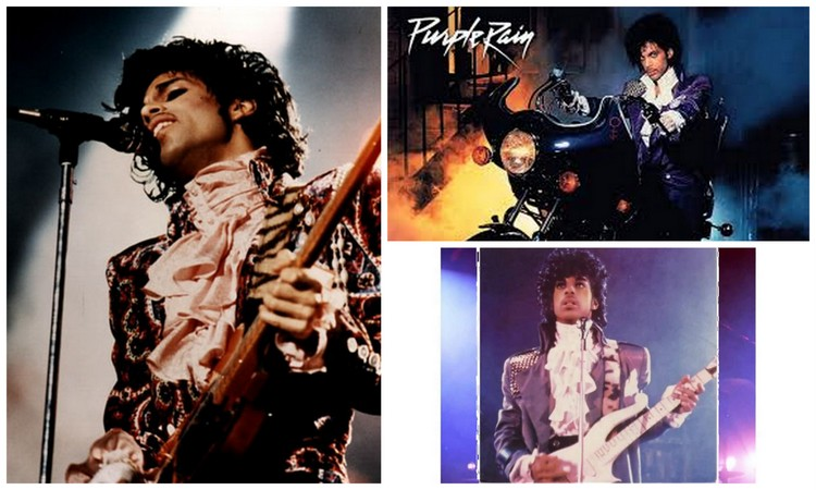 """Purple Rain"" tour images"