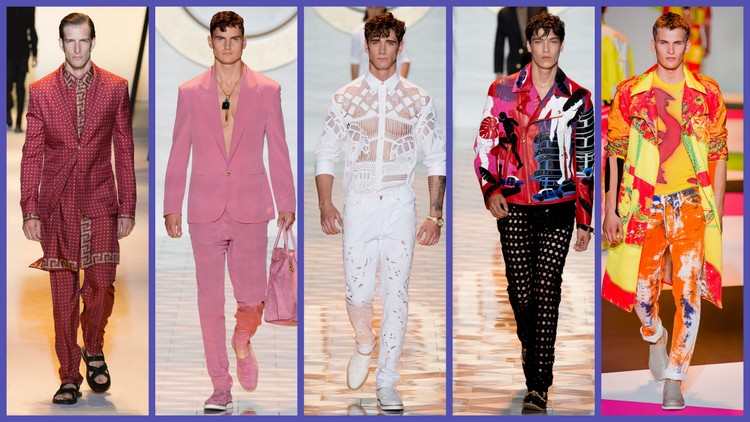 Images of Versace Mens spring 2013, 2015 and 2016 courtesy of Yannis Vlamos/vogue.com