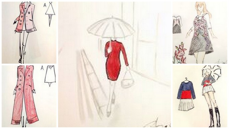 Dan Liu fall 2017 sketches courtesy of The Riviere Agency