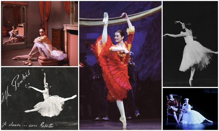 Images of Paris Opera Ballet etoiles clockwise: Sylvie Guillem, Amelie Dupont,