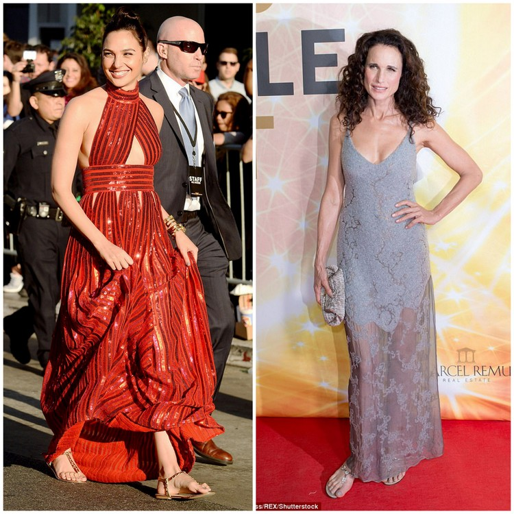 Images of Gal Gadot and Andie MacDowell courtesy of shutterstock.com
