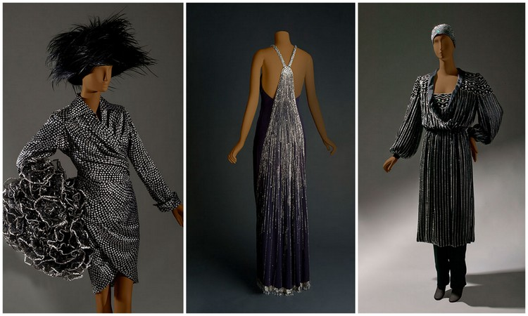 Jean Patou day ensemble. Haute couture, fall/winter 1986–87.Chloé (France) by Karl Lagerfeld, Evening dress, ready-to-wear, fall/winter 1983-84, Krizia jumpsuit. Haute couture, fall/winter 1981–82.