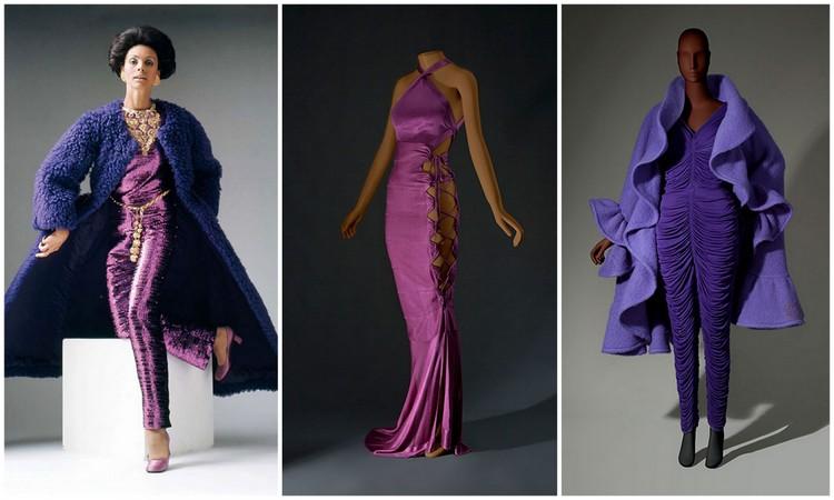 Nina Ricci cocktail ensemble. Coat, haute couture, fall/winter 1987–88. Azzedine Alaïa evening dress. Ready-to-wear, spring/summer 1986